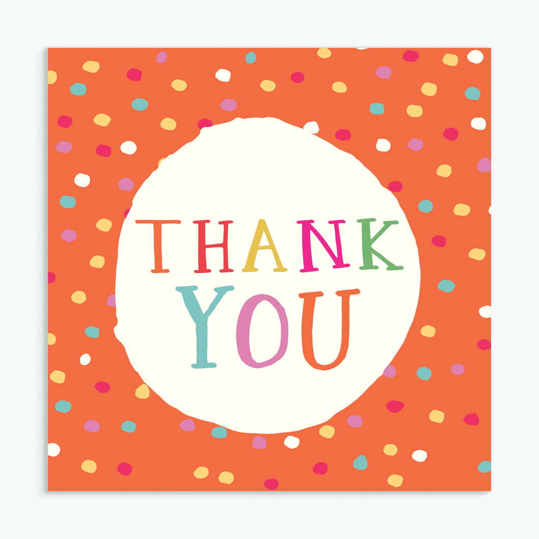 'Thank You' Greeting Card & Envelope