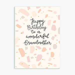 'Wonderful Grandmother' Birthday Card & Envelope