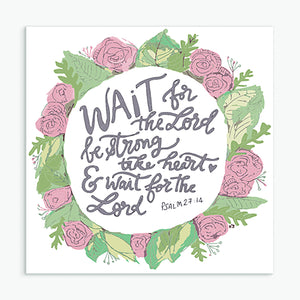 'Wait for the Lord' by Helen Stark - Greeting Card