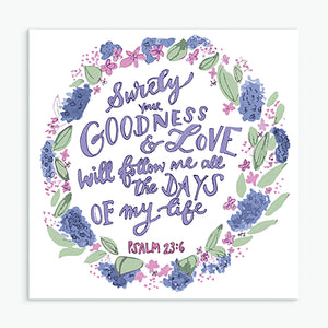 'Goodness and Love' by Helen Stark - Greeting Card