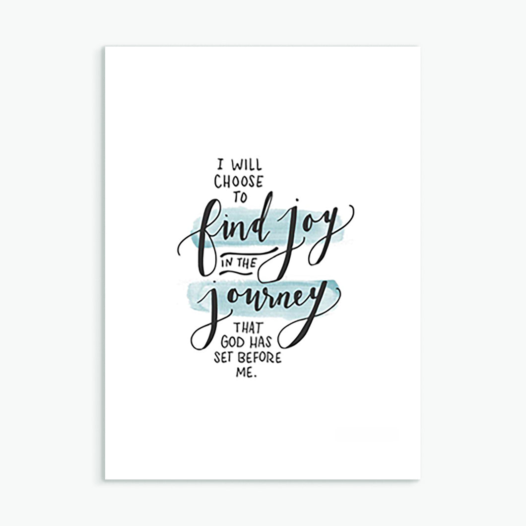 'I Will Choose to Find Joy' (2017) by Emily Burger - Greeting Card