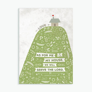 'As For Me And My House' (Hill) by Emily Burger - Greeting Card