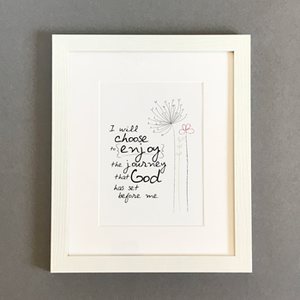 'I Will Choose' by Emily Burger - Framed Print