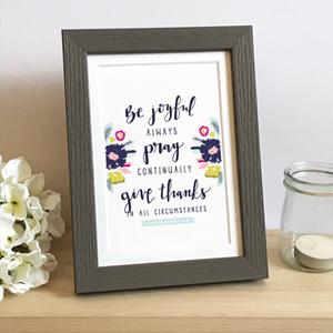 'Be Joyful Always' by Emily Burger - Framed Print