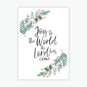 Christmas Card Packs - Joy to the World, the Lord has come A6 size (2020)