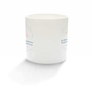 """The Lord bless you and keep you"" fine bone china mug"