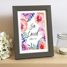 Load image into Gallery viewer, 'So Loved' (Flowers) by Preditos - Framed Print