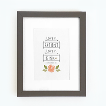 Load image into Gallery viewer, 'Love is Patient' by Emily Burger - Framed Print