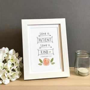 'Love is Patient' by Emily Burger - Framed Print