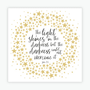 """The Light Shines"" Christmas cards  - 10 Pack"
