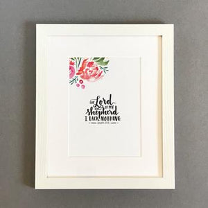 'The Lord is My Shepherd' by Emily Burger - Framed Print