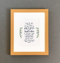 Load image into Gallery viewer, 'May The God Of Hope' by Emily Burger - Framed Print
