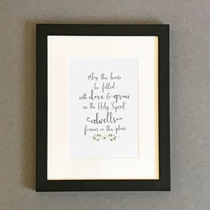 'May This Home Be Filled' by Emily Burger - Framed Print