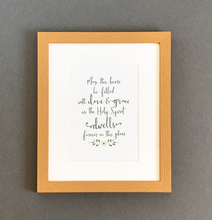 Load image into Gallery viewer, 'May This Home Be Filled' by Emily Burger - Framed Print