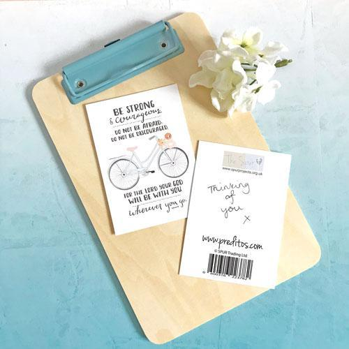 'Be Strong' (Bicycle) by Emily Burger - Mini Cards