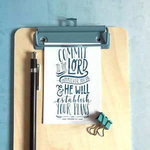 'Commit to the Lord' by Emily Burger - Mini Cards