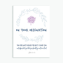 Load image into Gallery viewer, On Your Ordination greeting card