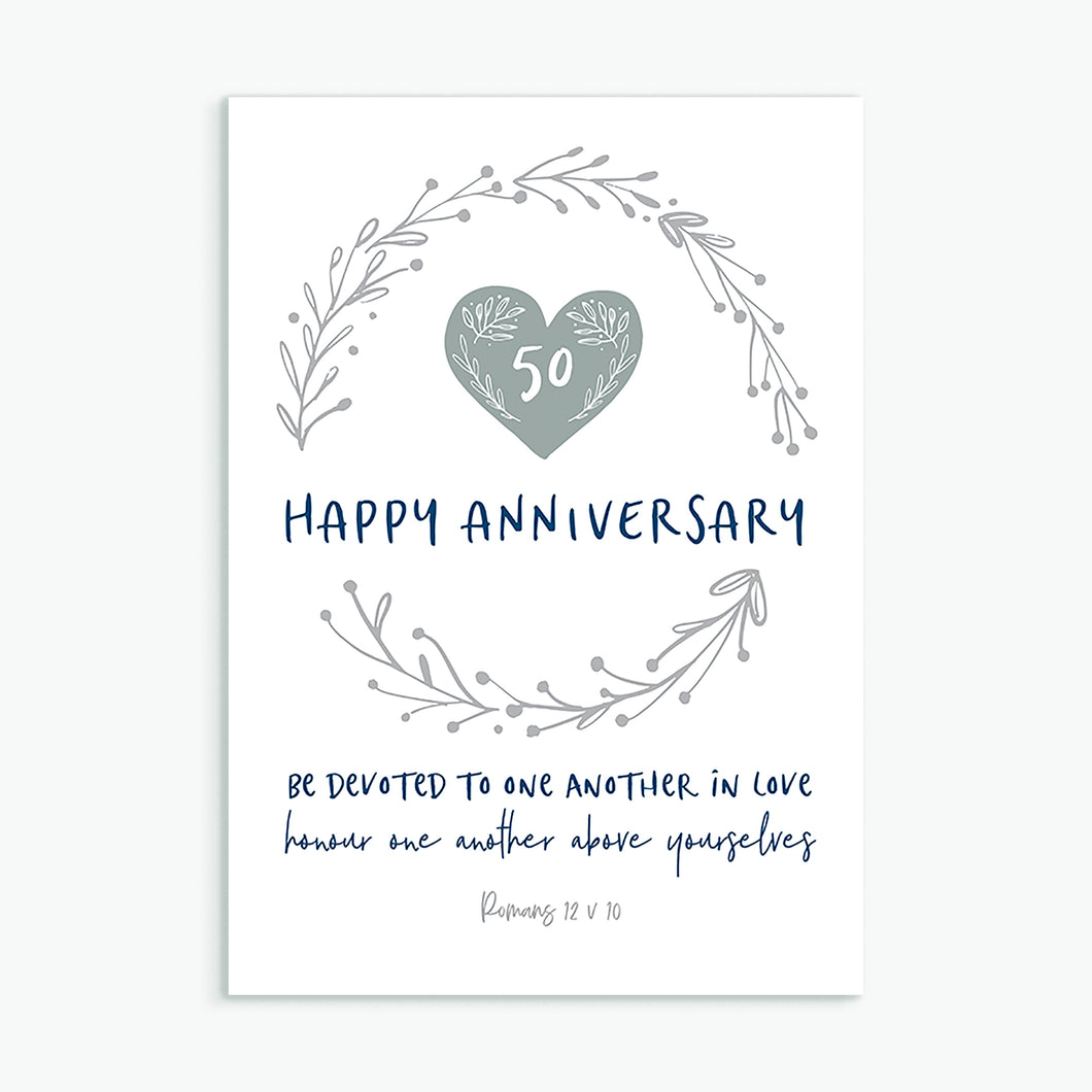 Happy Anniversary - choose your number!  greeting card