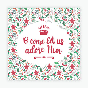 """O Come Let Us Adore Him"" Christmas cards  - 10 Pack"