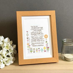 'Overcomer' (flowers) by Emily Burger - Framed Print