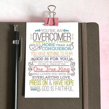 'Overcomer' by Emily Burger - Mini Cards