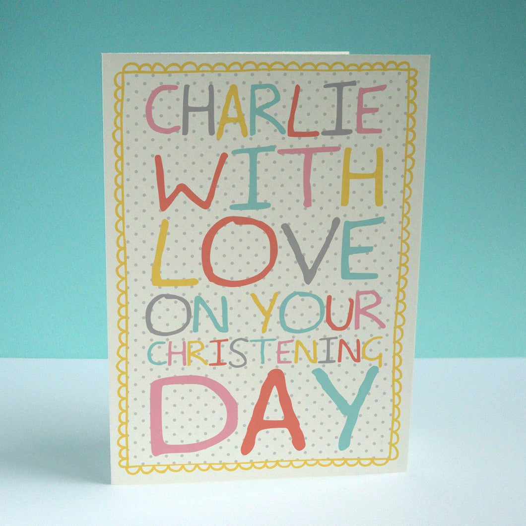 Christening Card (personalised)