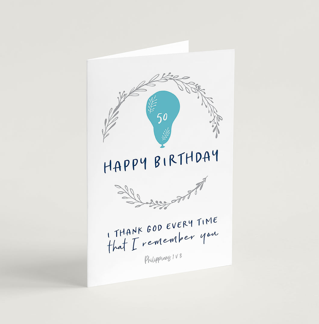 Happy Birthday - choose your number!  greeting card