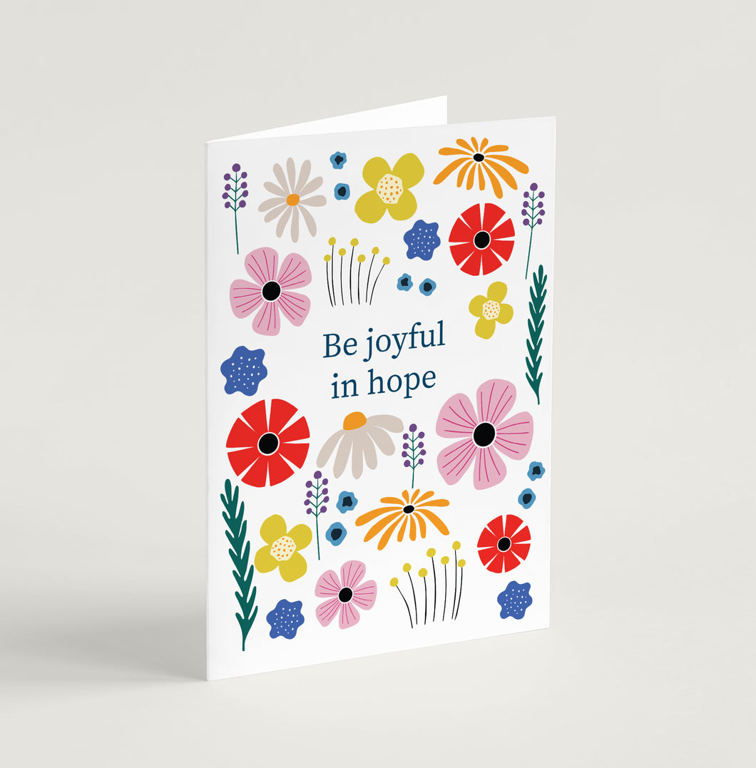 'Be Joyful in Hope' Encouragement Card - A6