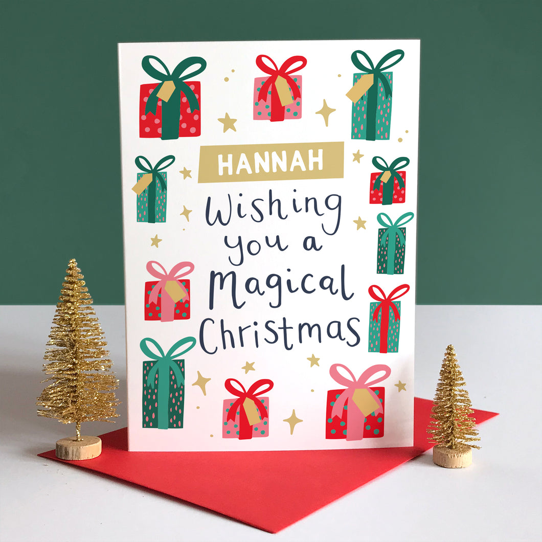 Personalised Kid's Christmas Card