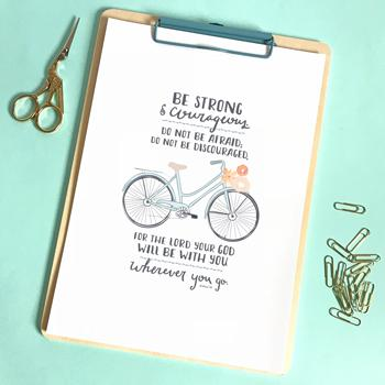 'Be Strong' (Bicycle) by Emily Burger - Print