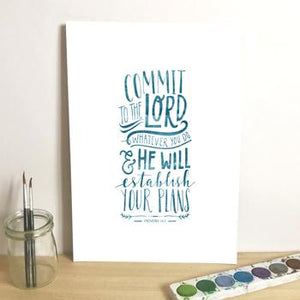 'Commit to the Lord' by Emily Burger - Print