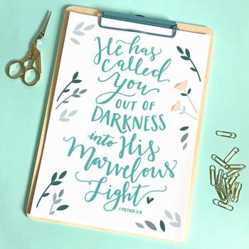 'He Has Called You Out Of Darkness' by Emily Burger - Print