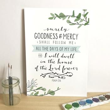 'Surely Goodness and Mercy' by Emily Burger - Print