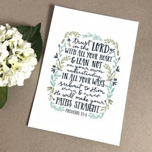 'Trust in the Lord' by Emily Burger - Print