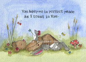 You Keep Me in Perfect Peace mounted print - My Painted Bear