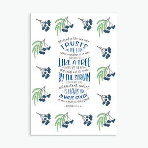 Blessed is the one who trusts greeting card
