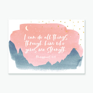 I can do all things (mountains) greeting card