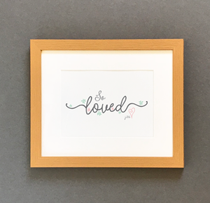 'So Loved' by Preditos - Framed Print