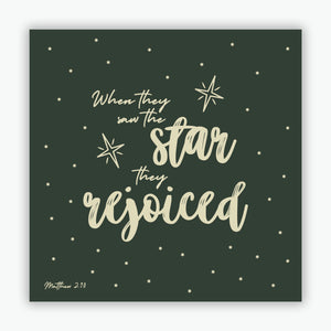 """When They Saw The Star"" Christmas cards - Dark Green  - 10 Pack"