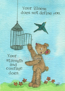 Strength and Courage greeting card