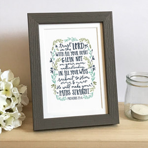 'Trust in the Lord' by Emily Burger - Framed Print
