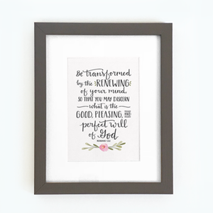 'Be Transformed' by Emily Burger - Framed Print