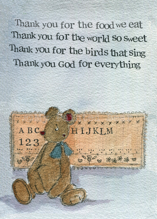 Thank You mounted print - My Painted Bear