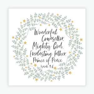 """Wonderful Counsellor"" Christmas cards  - 10 Pack"