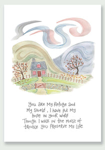 'You are my refuge - I will give you rest' by Hannah Dunnett - Notelets