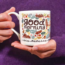 "Load image into Gallery viewer, ""Good Morning"" fine bone china mug"