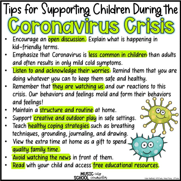 COVID-19 Parent/Guardian tips from our in house licensed professional school counselor