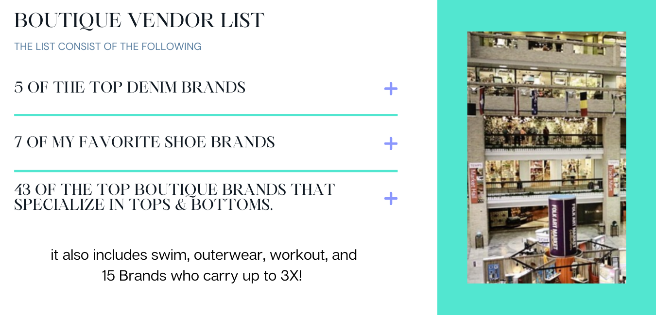 Wholesale Brands to purchase for your clothing boutique store