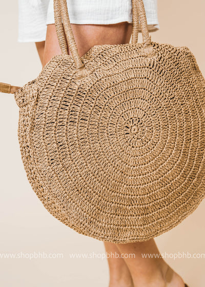 This straw circle bag is a summer must have. Grab your beach towel, swimsuit and go!