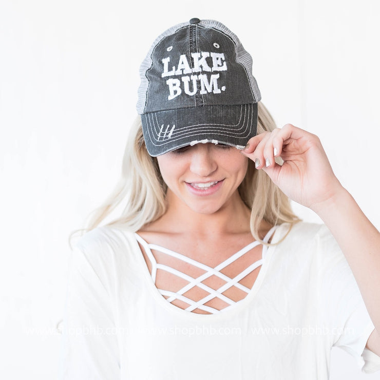 Lake Bum Hat | Charcoal, LAKE, vendor-unknown, badhabitboutique